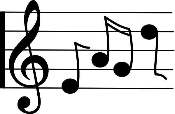 Music note animated music free clipart