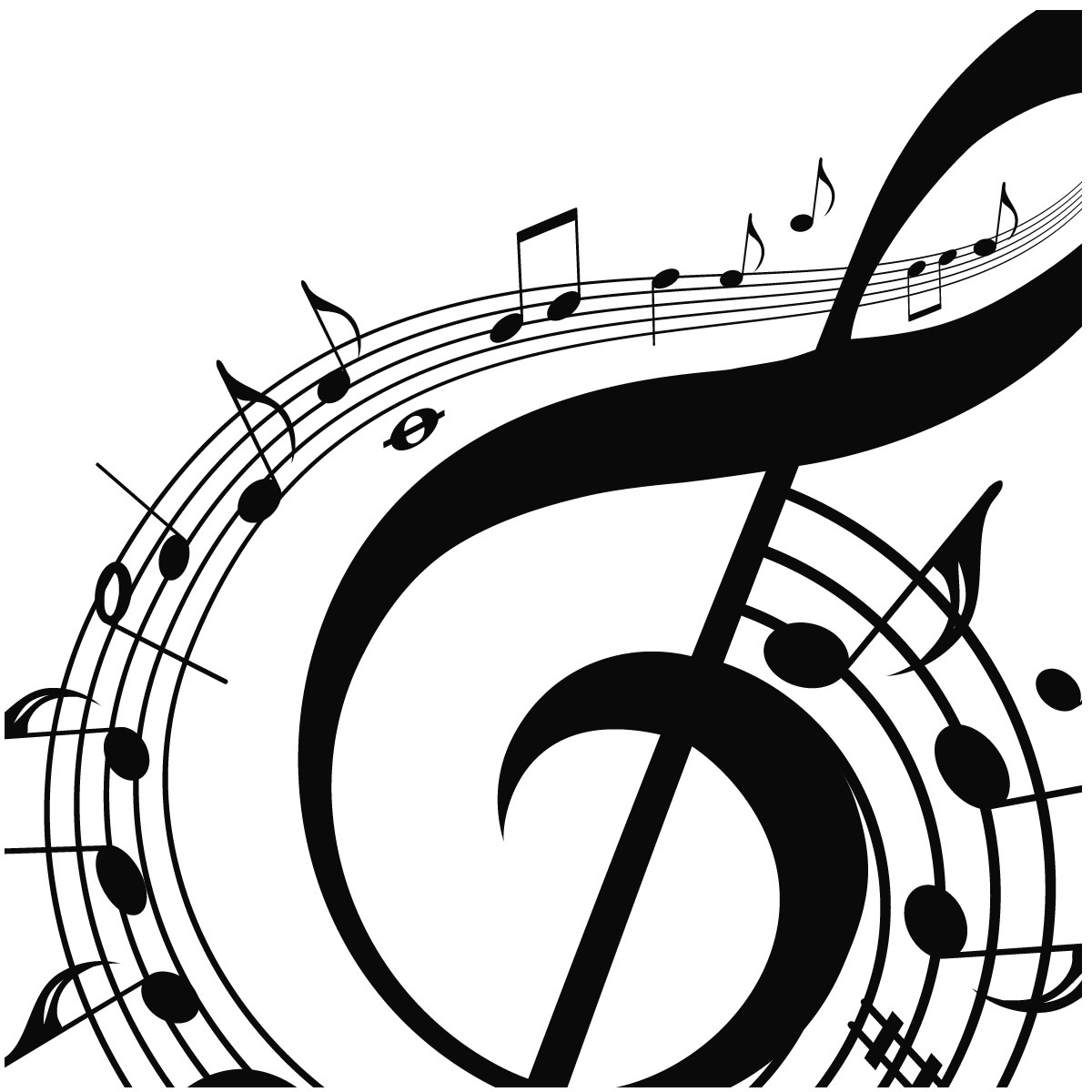 Music note musical notes background clipart