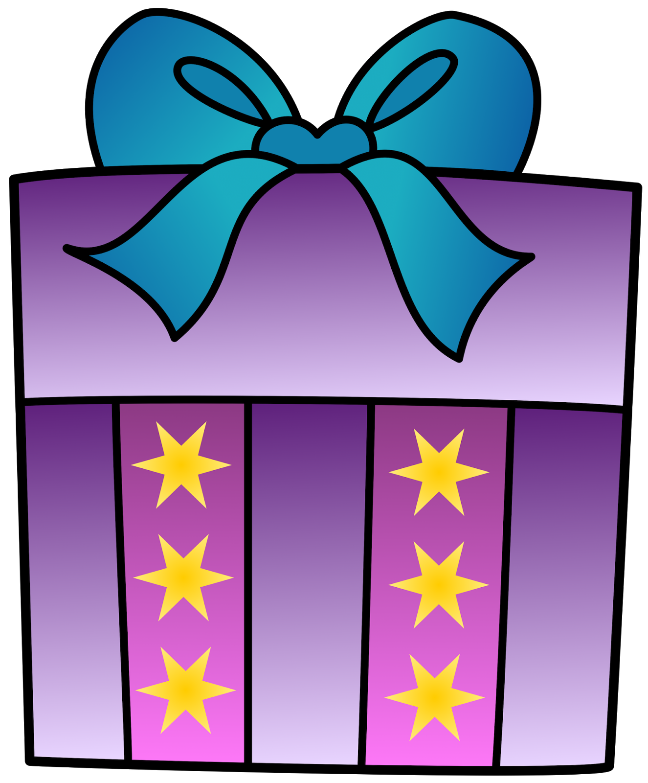 Open presents clipart 2