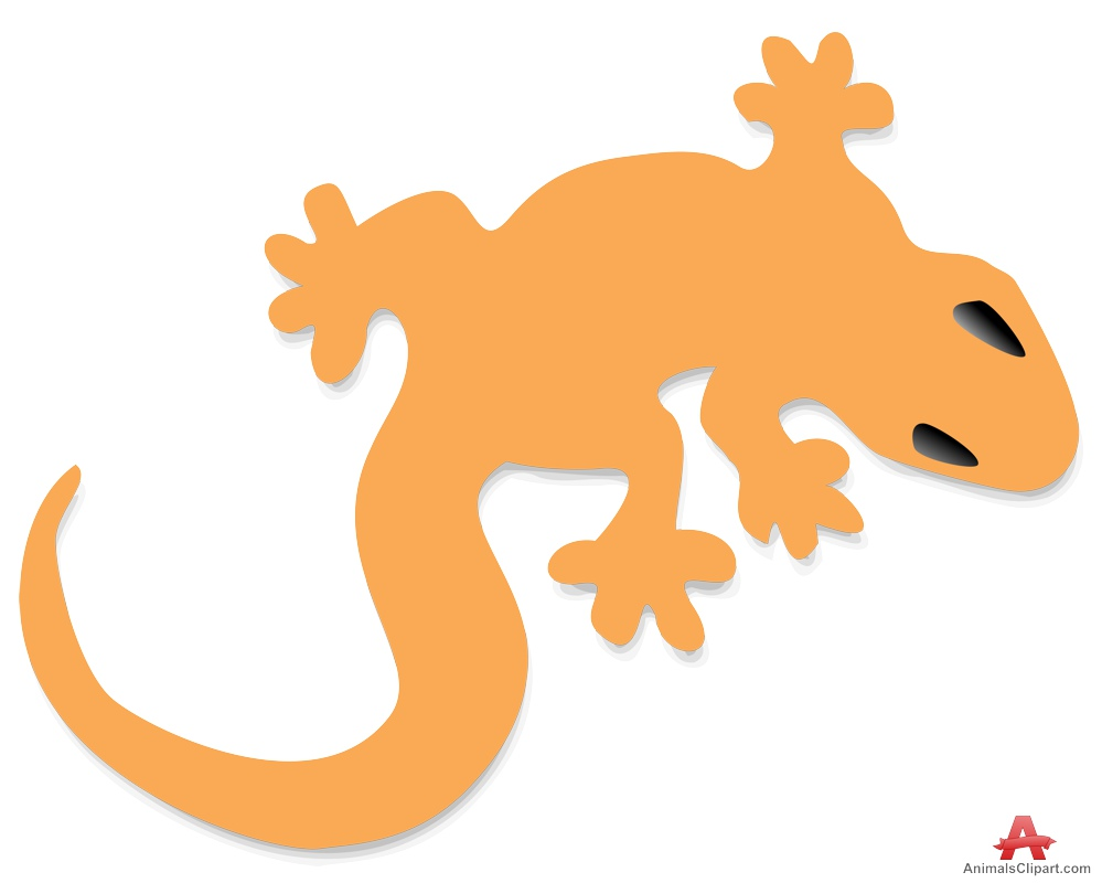 Orange lizard clipart free design download