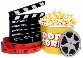 Outdoor movie night clipart free images