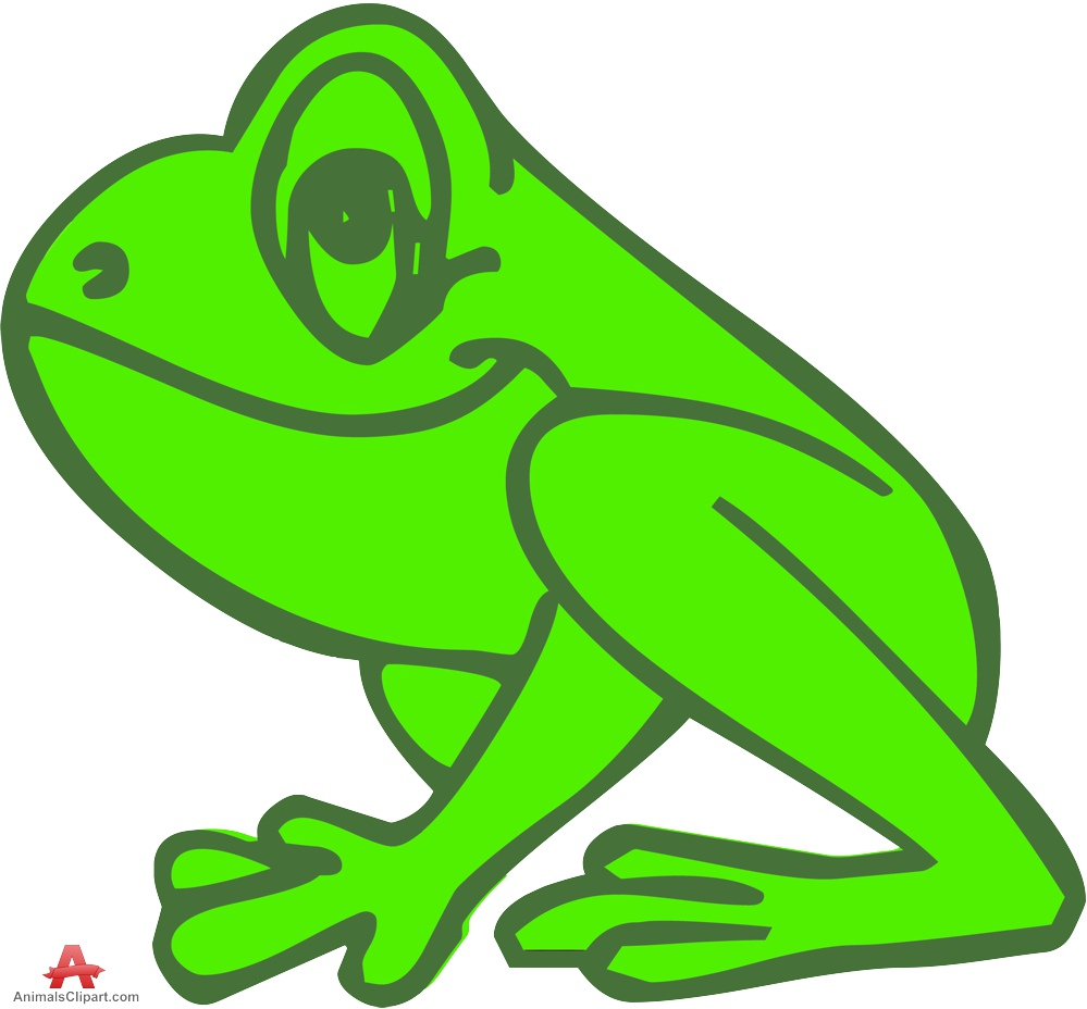 Outline colored frog clipart free design download