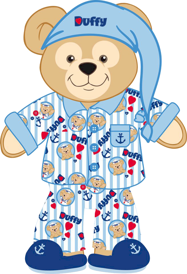 Pajama duffy the bear clipart