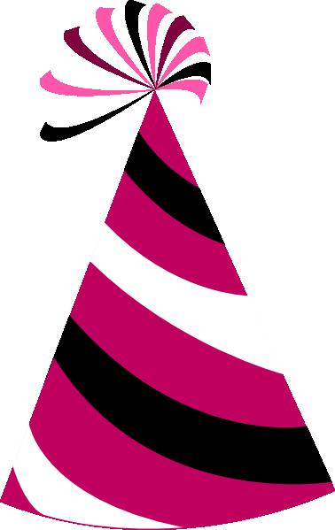 Pink birthday hat clip art clipart photo 2