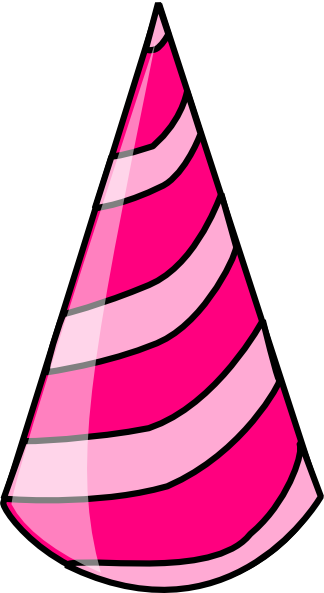 Pink birthday hat clip art clipart photo 3
