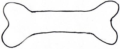 Pink dog bone clip art clipart image 4