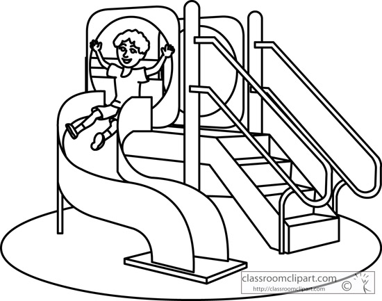 Playground slide clipart 3