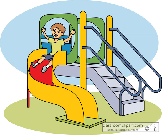 Playground slide clipart