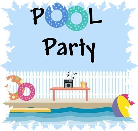 Pool party golfside lake clip art