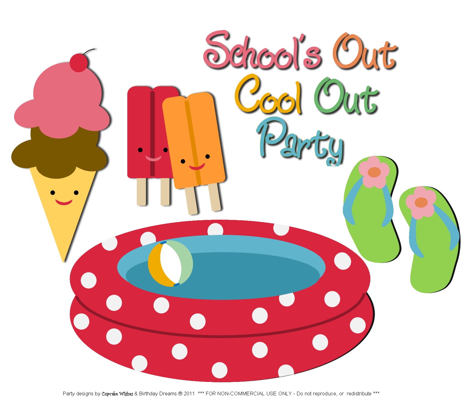 Pool party pool water party clipart 2