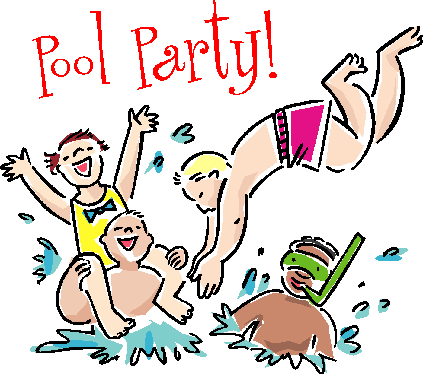 Pool party swimming party clipart free images 2