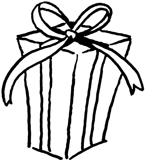 Wrapped Gift Basket Clip Art