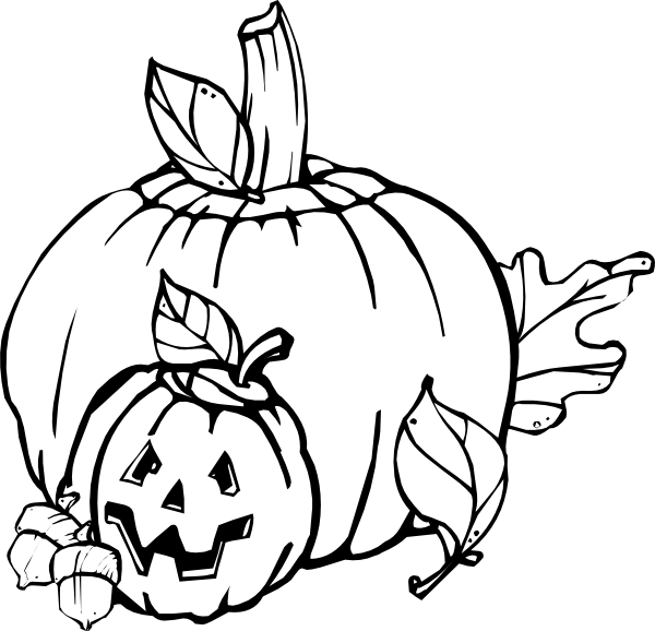 Pumpkin  black and white flower black and white pumpkin clipart 2