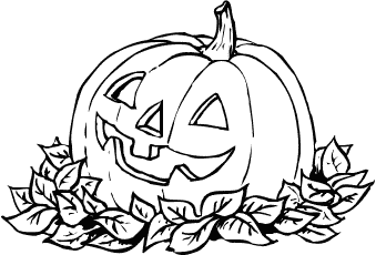 Pumpkin  black and white pumpkin clip art