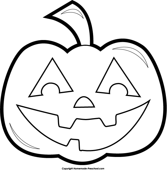 Pumpkin  black and white white pumpkin clipart 4
