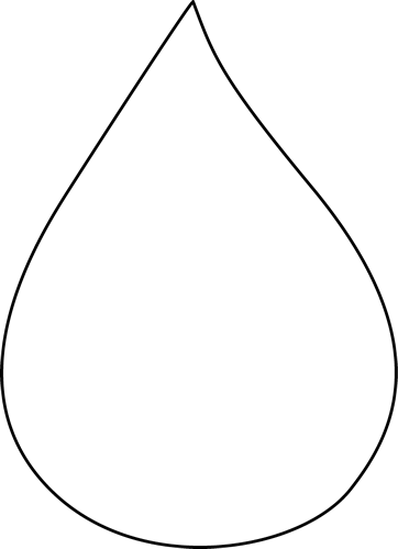Raindrop black and white clipart 4