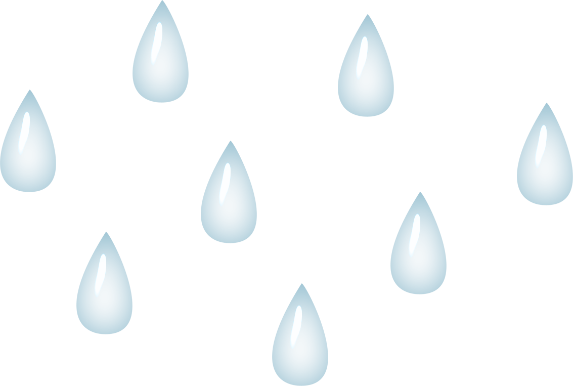 Raindrop black and white clipart