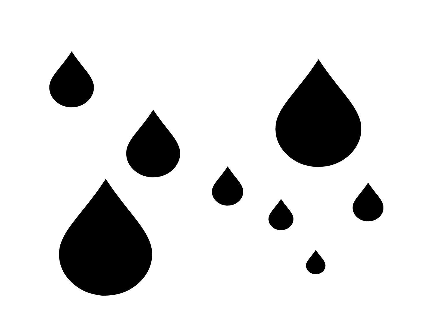 Raindrop template clipart
