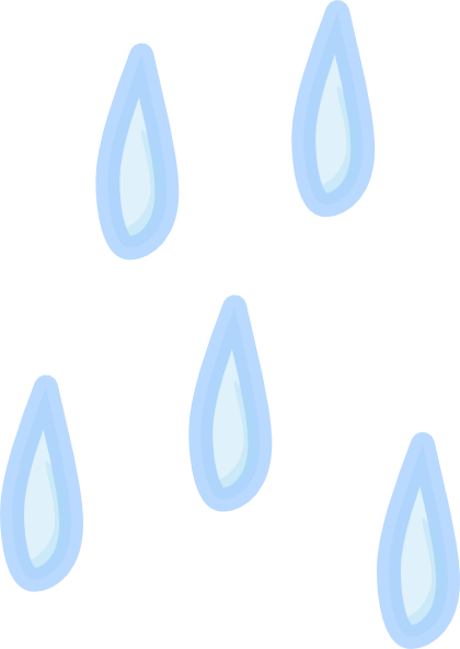 Raindrops animated clipart 3