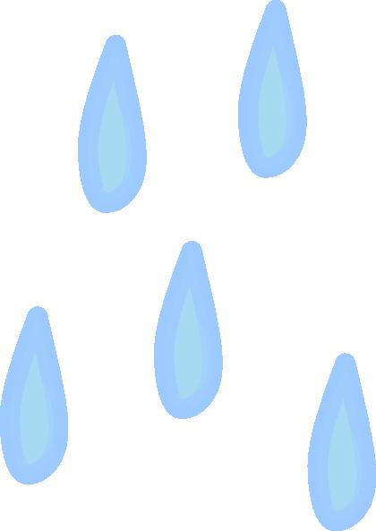 Raindrops animated clipart 3