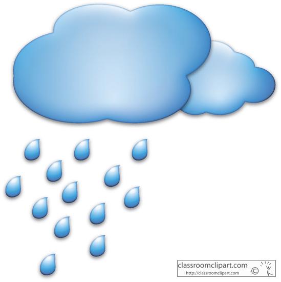 Raindrops cliparts 3