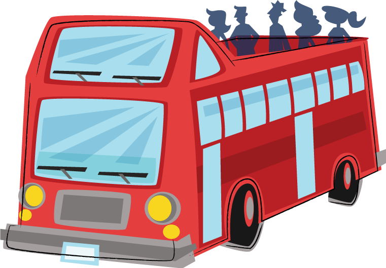 Red bus clipart free images 3