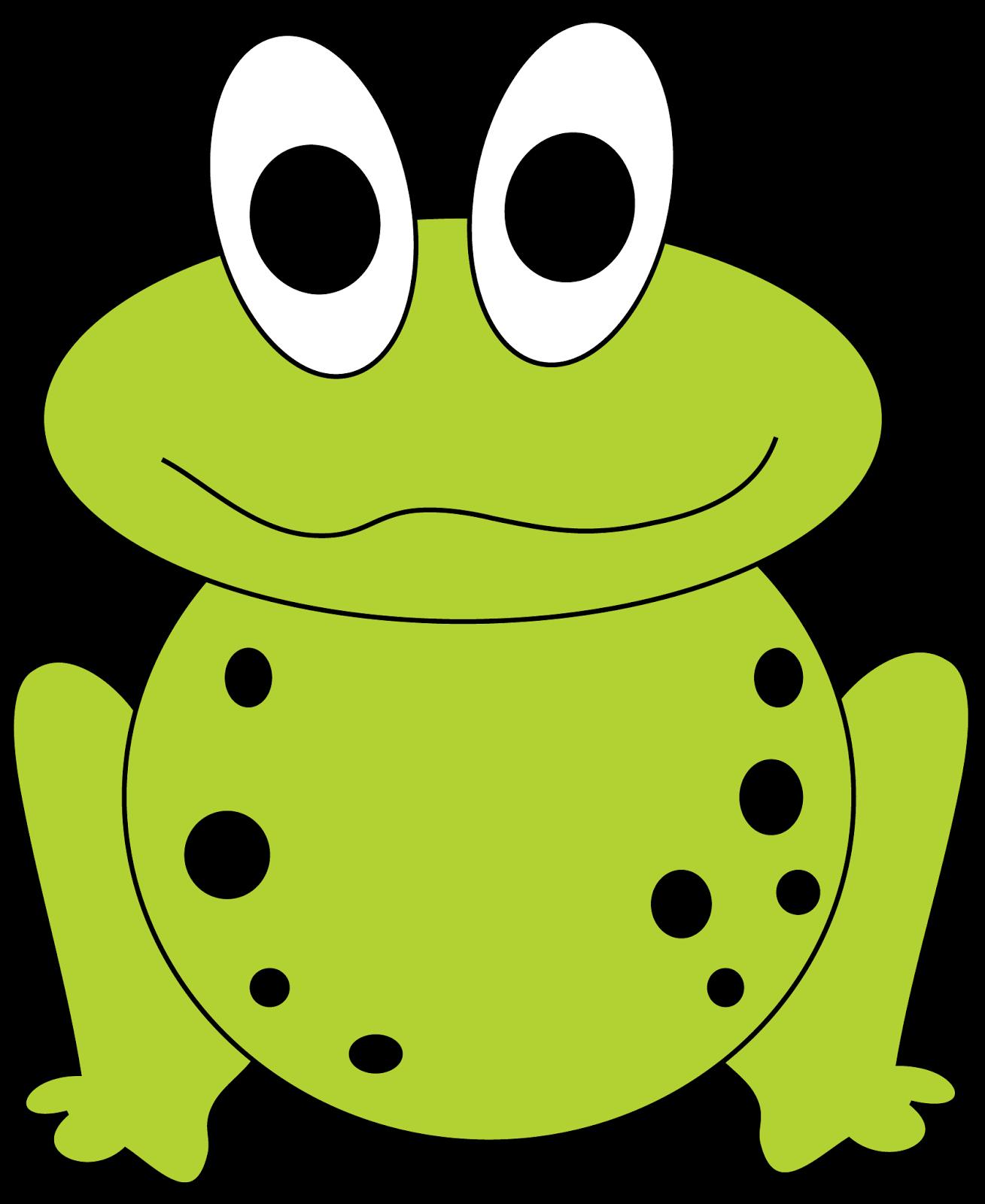Sad frog clipart