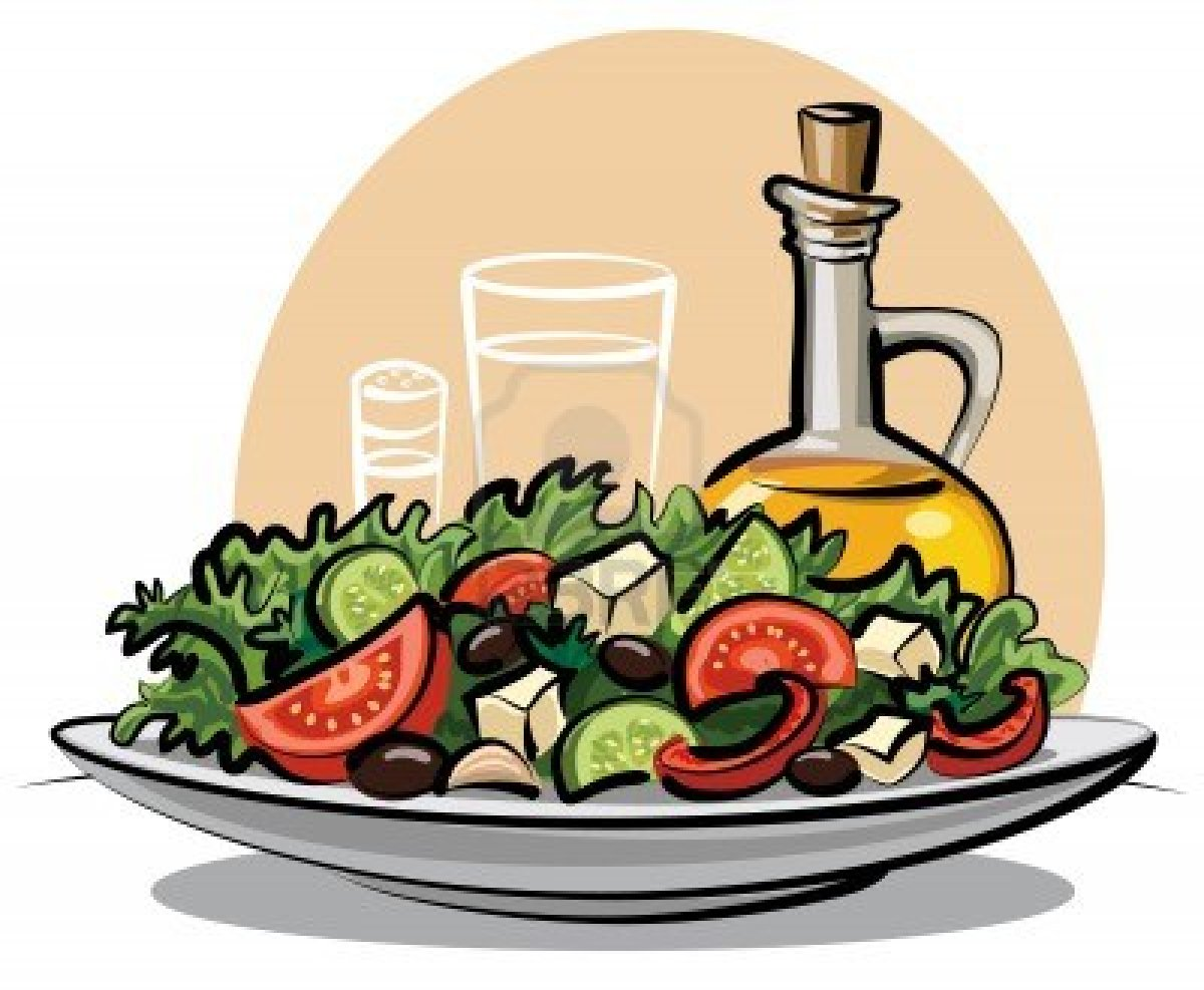 Salads border clipart