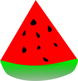 Sandia watermelon vector clip art