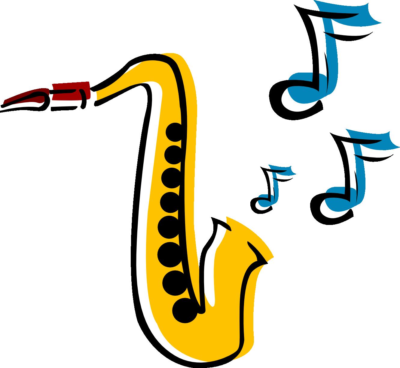Saxophone clipart 5