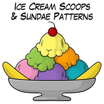 Scoop ice cream sundae clipart