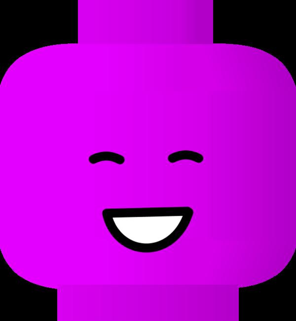 Smiley face lego vector clip art 2