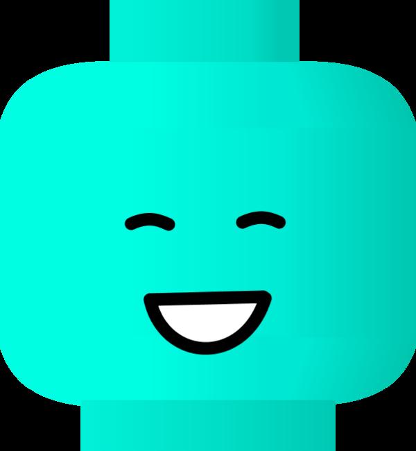 Smiley face lego vector clip art