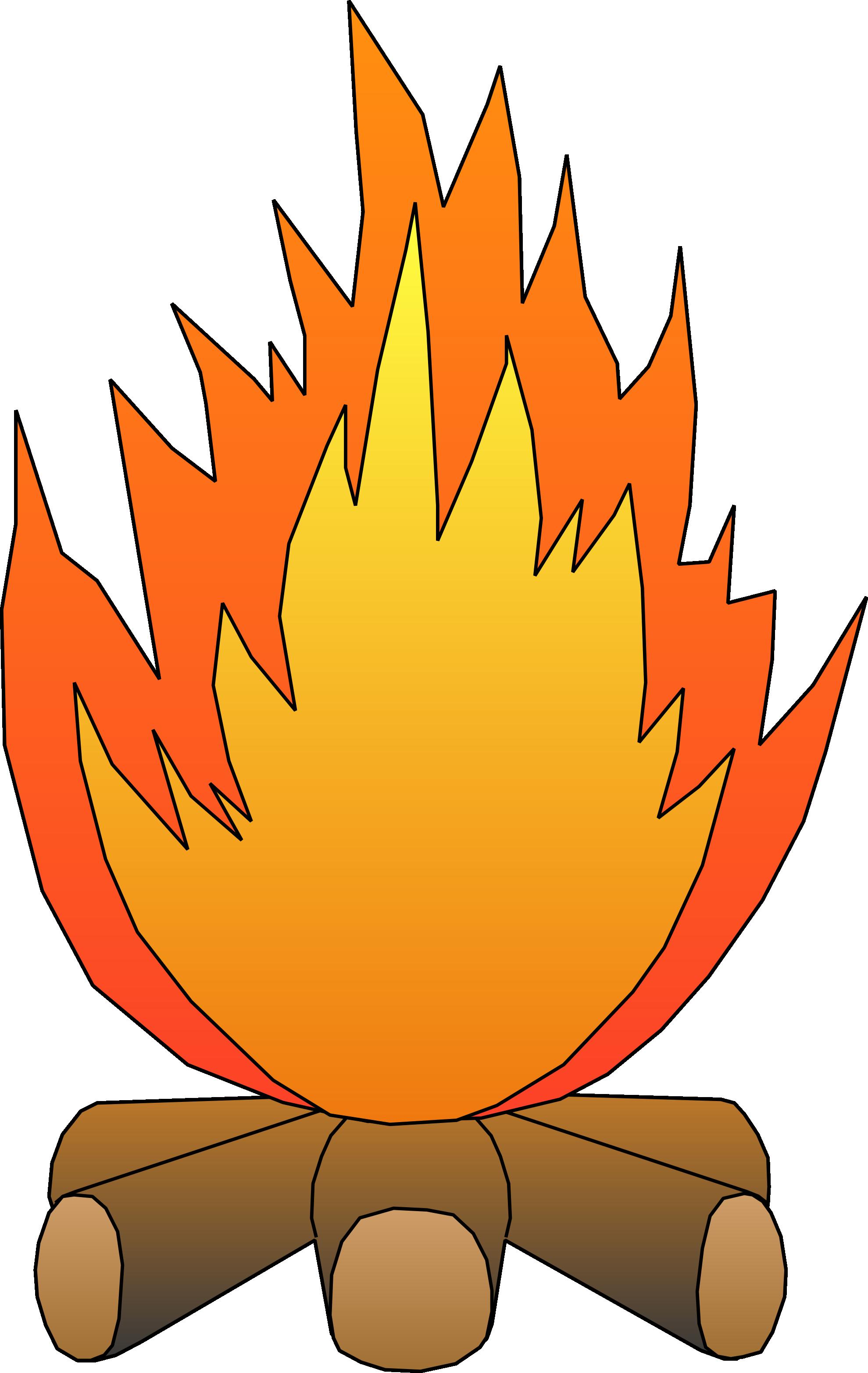 Smores campfire clipart