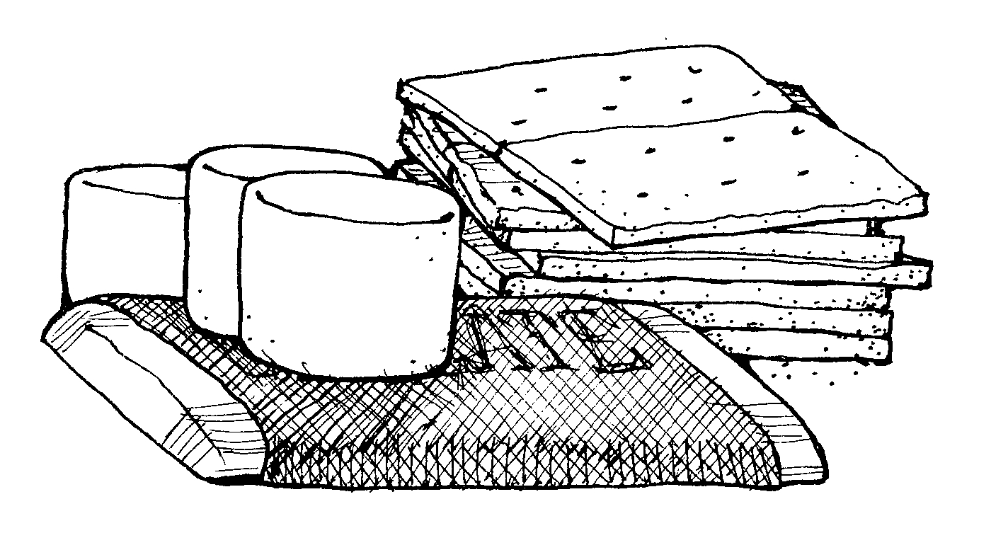 Smores coloring pages - Smores Clip Art Clipart