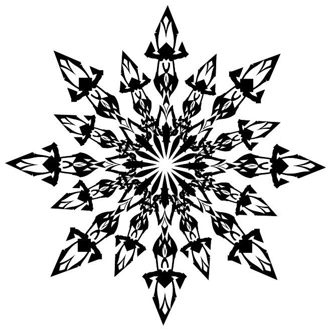 Snowflake clip art vp free vector freevectors