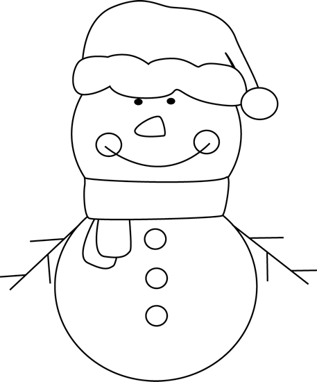 Snowman  black and white black and white christmas snowman clip art