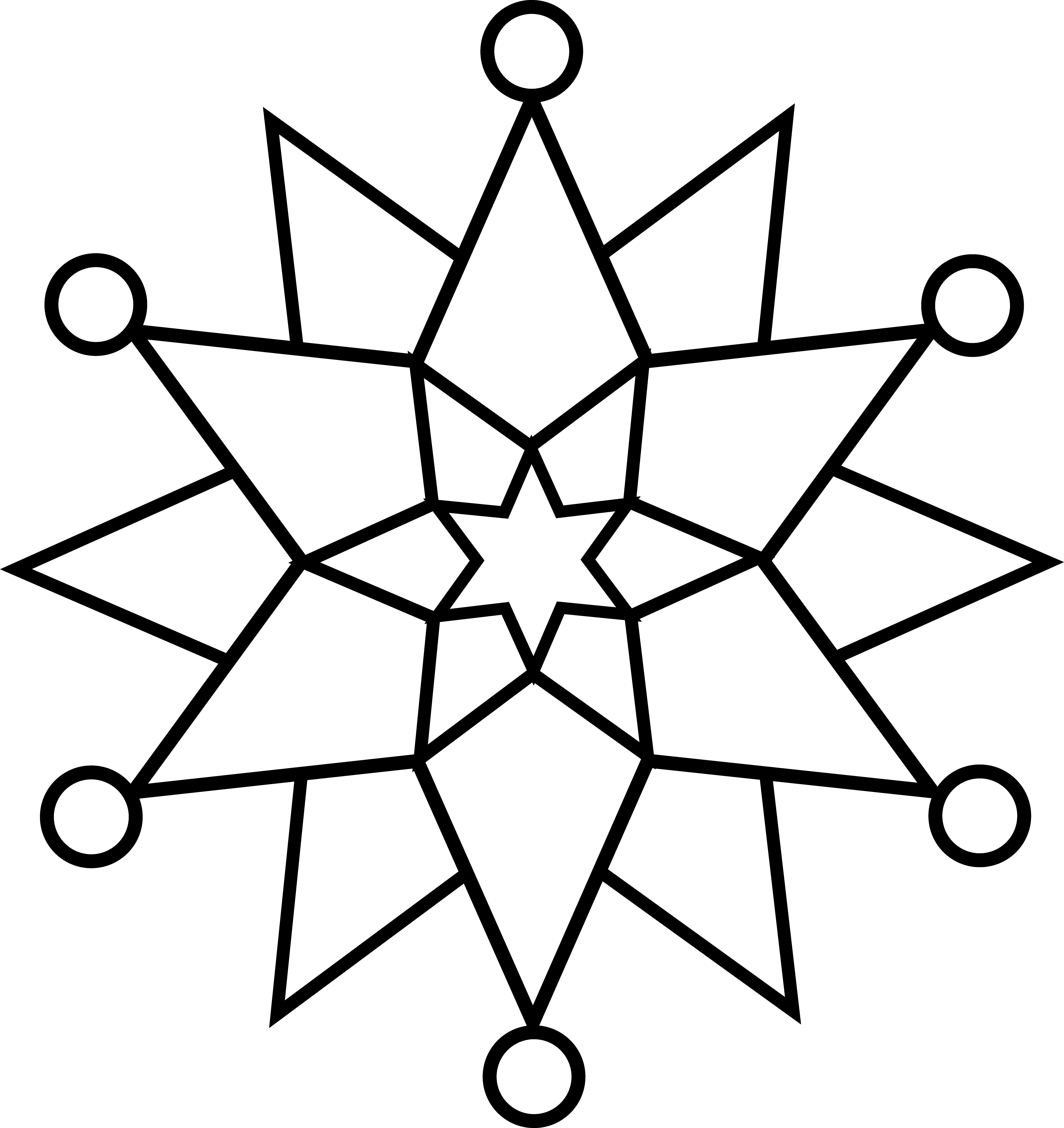 Snowman  black and white black and white snowflake clip art