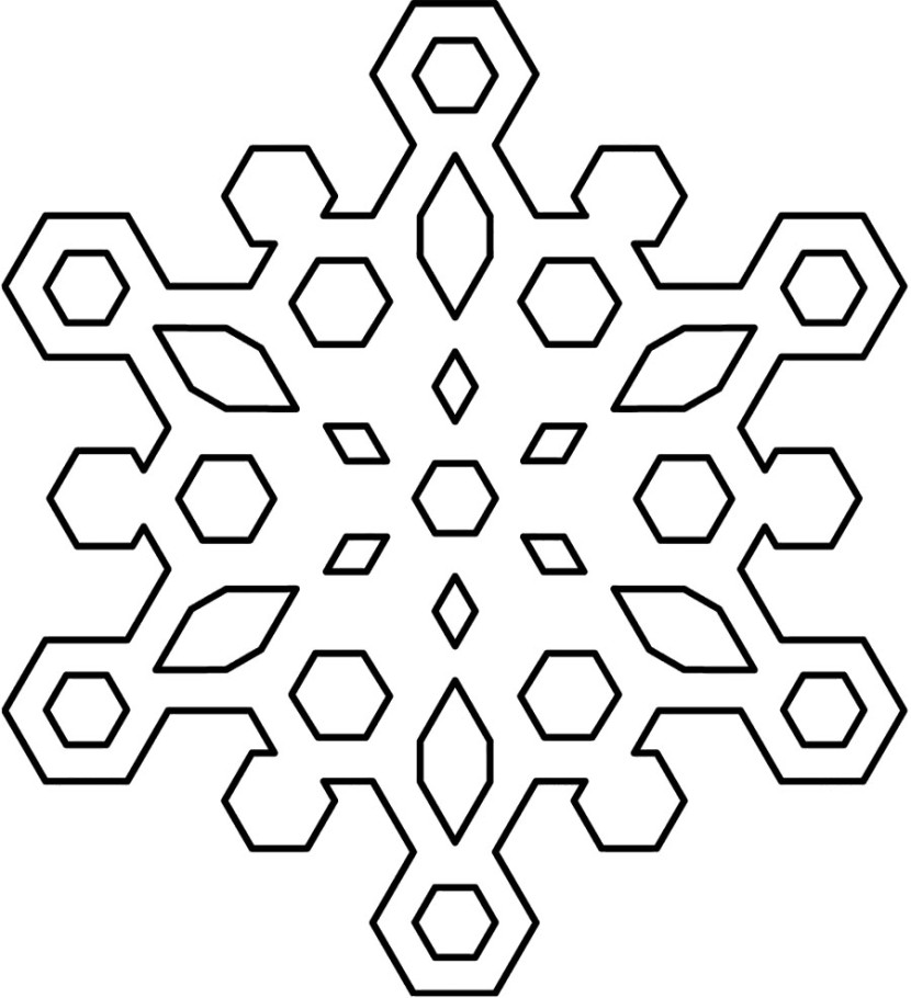 Snowman  black and white black and white snowflake clipart 2