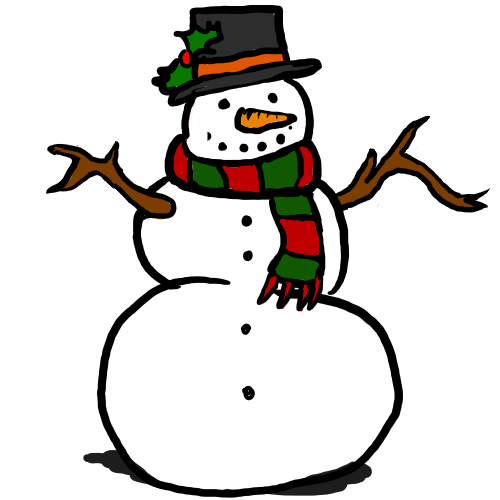 Snowman  black and white free snowman clipart black and white 3
