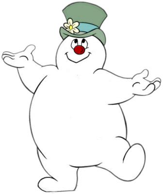 Snowman  black and white free snowman clipart