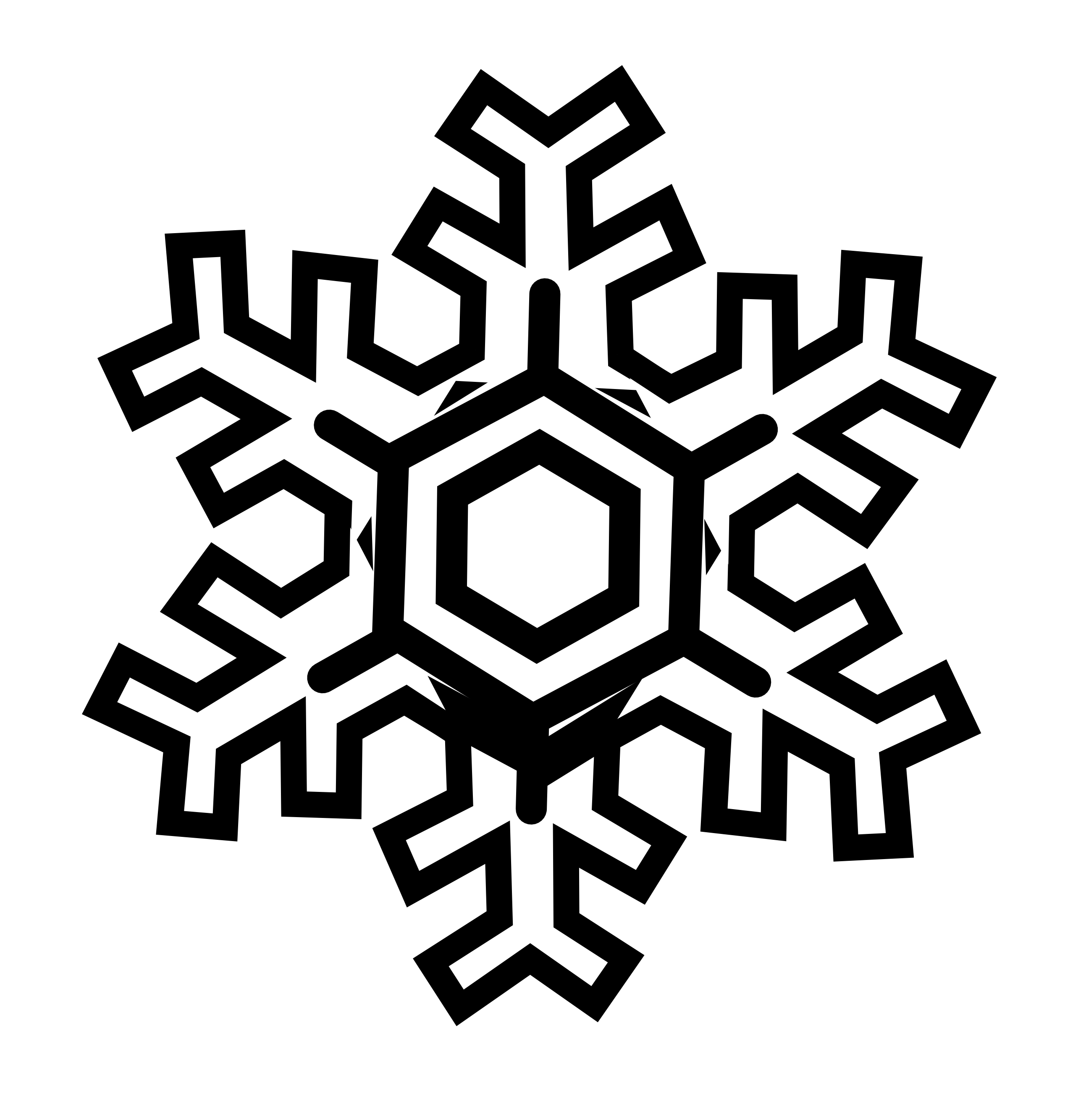 Snowman  black and white snowflake clipart black and white free 2
