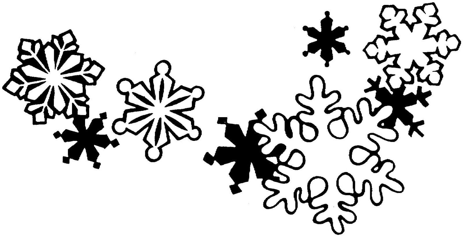 Snowman  black and white snowflake clipart black and white free 3