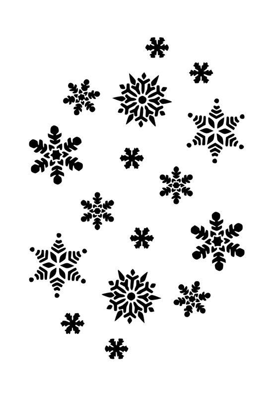 Snowman  black and white snowflakes black and white snowflake free clip art image