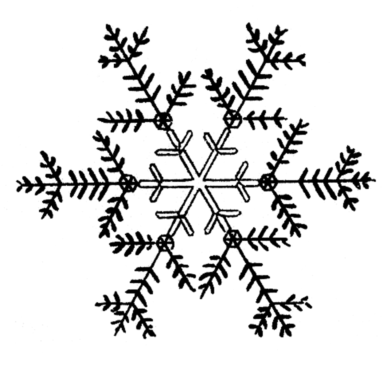 Snowman  black and white snowflakes snowflake clipart black and white free 3
