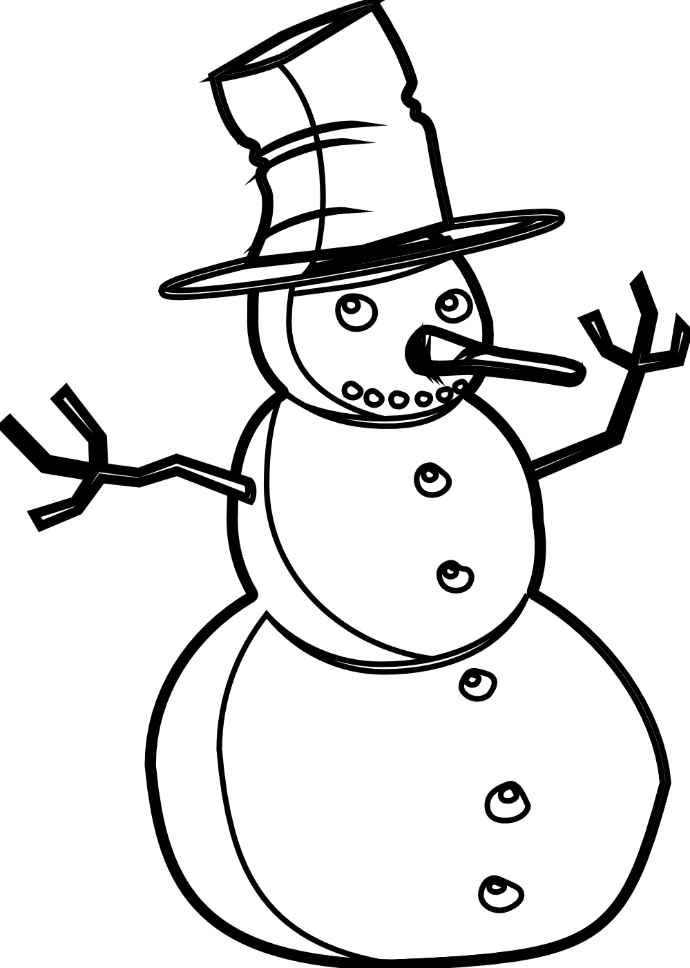 Snowman  black and white snowman black and white christmas t clipart 2