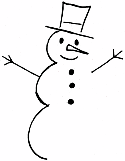 Snowman  black and white snowman clip art black and white free