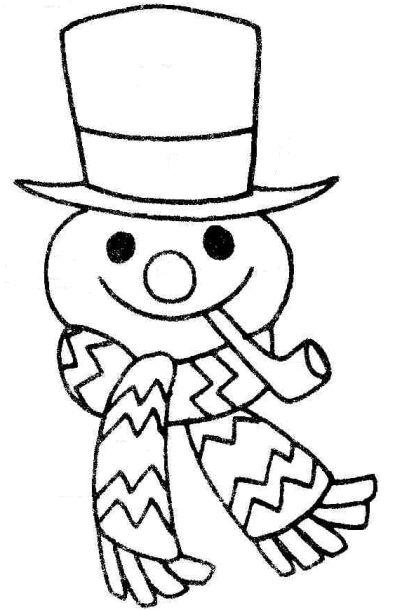 Snowman  black and white snowman face clip art
