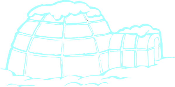 Snowy igloo clip art at vector clip art