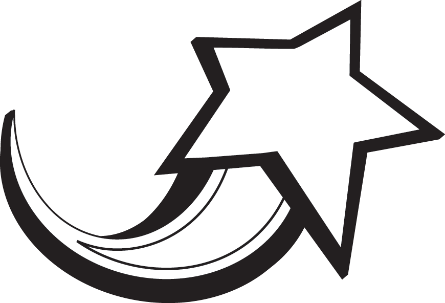 Star  black and white black and white star clipart 3